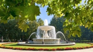 Check out the Saxonian Garden located in central Warsaw.