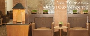 Save $50 on an Admirals Club Membership.