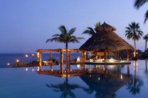 Stunning pool area at Esperanza.
