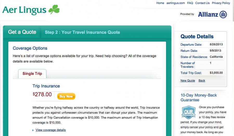 Comprehensive Travel Insurance Comparison