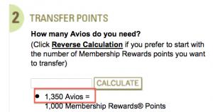 The 35% bonus is hardcoded into the transfer ratio so 1,000 Amex = 1,350 Avios.