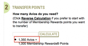 The 35% bonus is hardcoded into the transfer ratio so 1,000 Amex = 1,350 Avios.