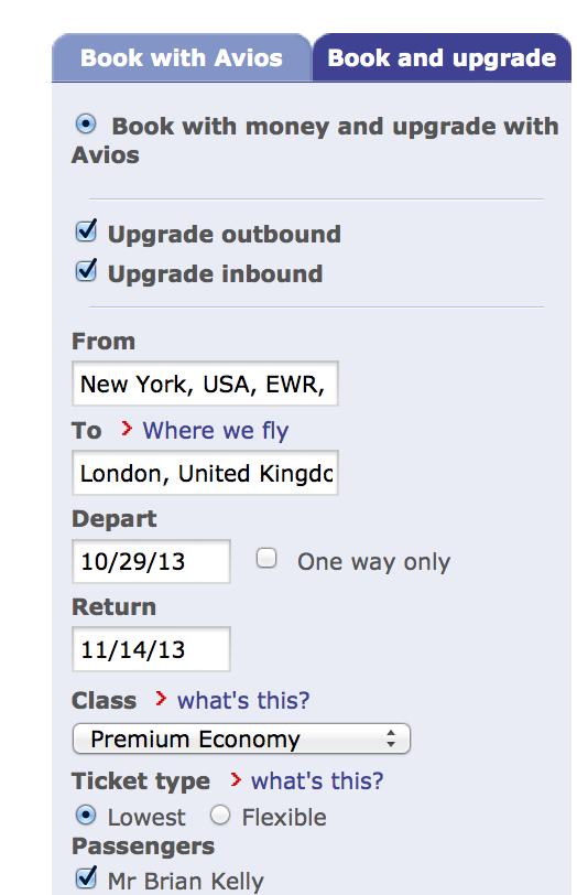 Promo code british airways executive club