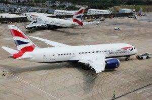 New British Airways 787 leaves Seattle