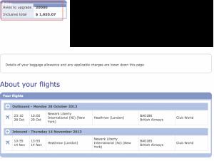 BA Upgrade Cash and Avios
