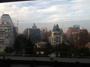 From my private balcony I had a great view of Santiago.