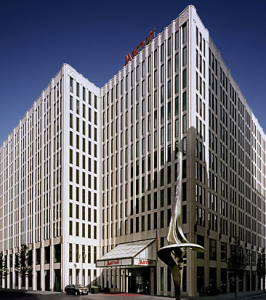 The Berlin Marriott is a Category 6 hotel located right in between the Tiergarten and Potsdamer Platz.