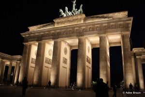 Brandenburg Gate is one of Berlin's most iconic monuments.