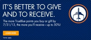 Earn up to a 50% bonus on purchased points.