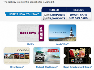 Chase Gift Cards June Promo