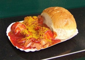 A famous German delicacy, the currywurst was invented in Berlin.