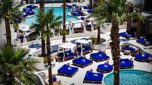 Pool area at the Tropicana Las Vegas.
