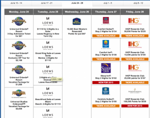 You can buy discounted packages of Priority Club points during tomorrow's Daily Getaways sales.