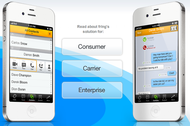 Fring allows you to use other VoIP providers — including Google Talk — on your smartphone.