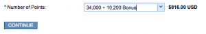 Hyatt 34K points