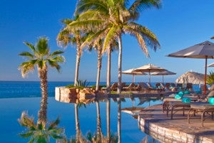 Infinity style swimming pool at the Sheraton Hacienda del Mar Golf & Spa Resort.