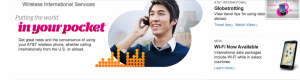 AT&T has a global plan to fit once-a-year vacationers or traveling professionals.