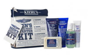 The Kiehl's Men's Starter Kit has five travel-sized essential products that fit into a handy sleek pouch.
