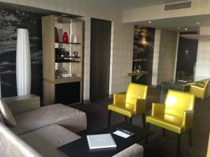 Living area of my suite.