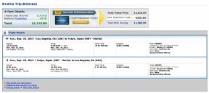 Los Angeles to Tokyo booking ANA on United.com  is more expensive than booking through ANA.