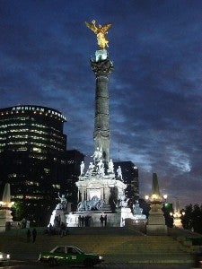 The Angel Monumento al a Independencia was built to celebrate Mexico's independence centennial.