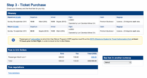 Miami to Bogota prices out at $698.90 round trip.