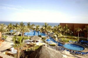 Overview of the pool area at the Holiday Inn Resort Los Cabos.