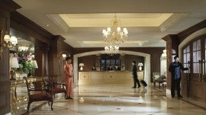 Lobby area at the Ritz-Carlton Beijing.