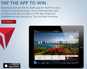 Delta's Tap the App Giveaway.