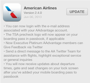 The American Airlines App has several new enhancements.