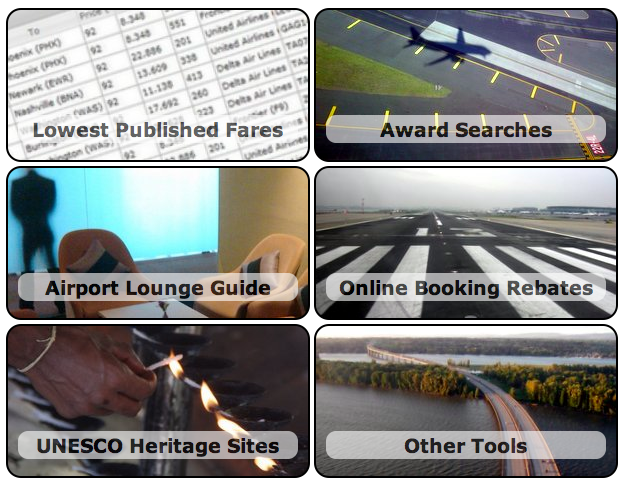 The Wandering Aramean created several travel tools to help with award searches.