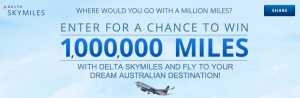 Enter to Win 1,000,000 Delta SkyMiles.