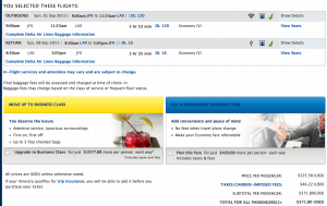 Delta JFK-LAX for $371 roundtrip.