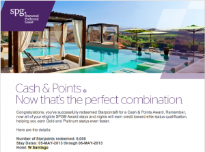 I redeeem 6,000 Starpoints and paid $110 for each of the two rooms that I booked for myself.