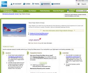 Amex Virgin Atlantic transfer