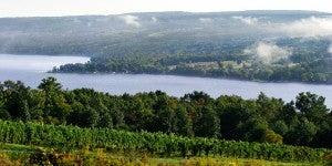 Dr. Konstantin Frank Vinifera Wine Cellars overlooks Keuka Lake in Hammondsport.