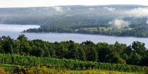 Dr. Konstantin Frank Vinifera Wine Cellars overlooks Keuka Lake in Hammondsport.