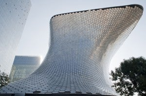 The soaring structure of the Soumaya Museum is as impressive as the art inside.