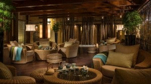 The Tea Room at the Four Seasons Beijing offers specialty teas and Chinese imperial snacks.