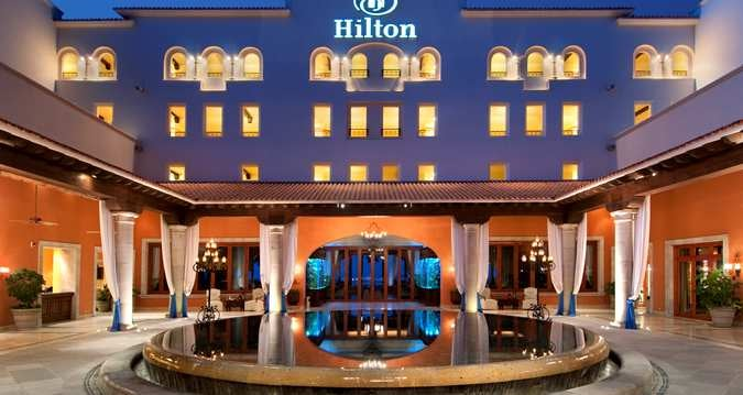 The Hilton Los Cabos Beach & Golf Resort is a hacienda style resort.