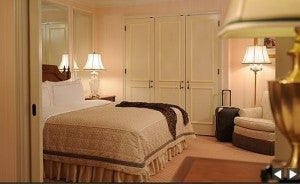 Rooms at the Regent Berlin are decorated with traditional motifs and Biedermeier furniture.