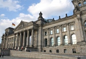 The historic Reichstag building is the second most visited attraction in Germany.
