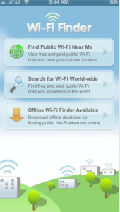 WiFi Finder only locate service but also rate the locations, strengths, and availability of the signals.