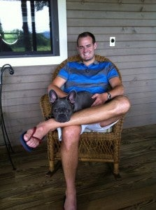 Miles and I on a family trip to North Carolina.