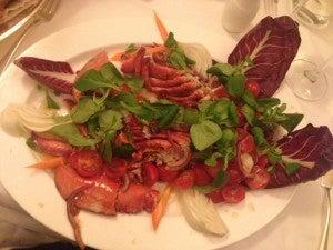 My lobster entree.