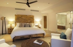 King guest room at Hotel El Ganzo.