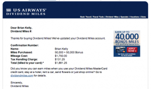 I bought 100,000 miles for just under $1,900.