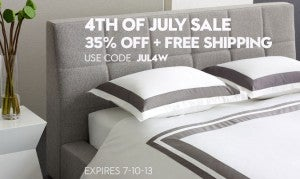 Save 35% with W Hotels The Store 4th of July Sale.