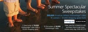 Enter to win 500,000 American AAdvantage miles.