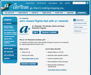 It's worth taking a look at Airtran's companion pass.